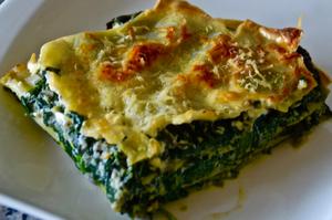 Spinat-Ricotta-Lasagne