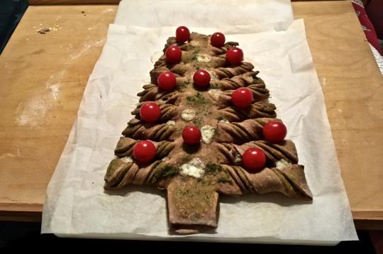 Pesto-Weihnachtsbaum