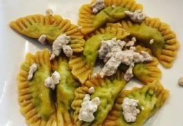Brokkoli-Frischkäse-Ravioli