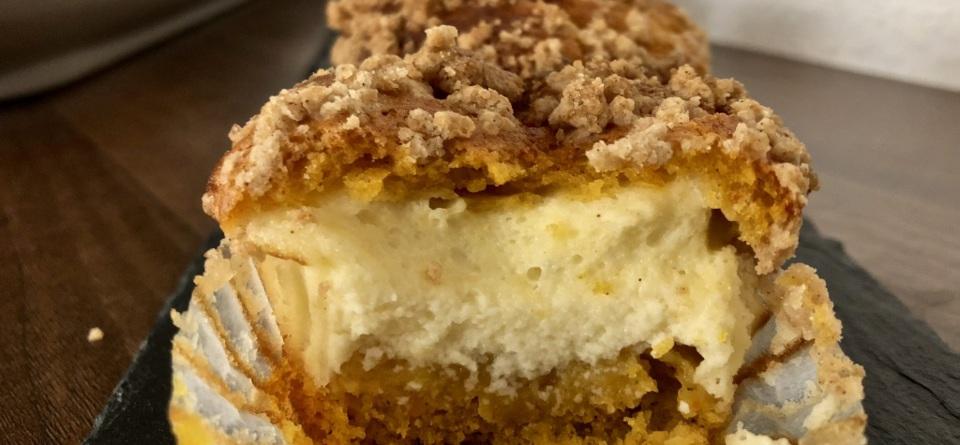 Kürbis-Muffins mit Frischkäsefüllung